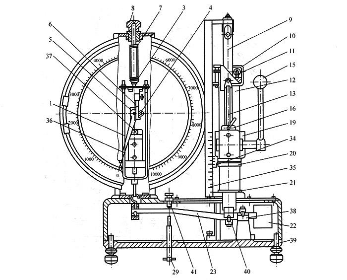 机械式弹簧拉压试验机示意图
